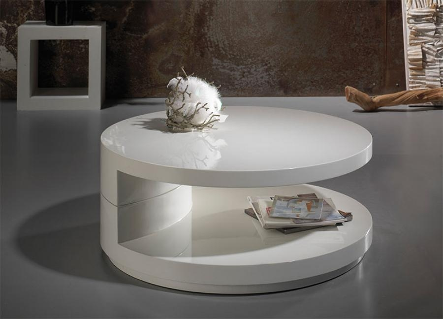 Remarkable Wellknown White Gloss Coffee Tables With White Round Coffee Table (Image 41 of 50)