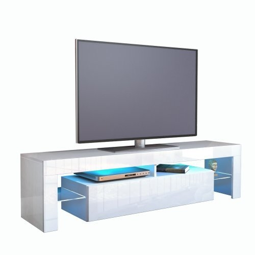 Remarkable Wellknown White Gloss TV Cabinets Regarding White High Gloss Tv Unit Amazoncouk (Image 40 of 50)