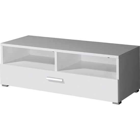 Remarkable Well Known White Gloss TV Stands With Drawers For Linea Tv Stand In White Gloss With 2 Compartments (Image 40 of 50)