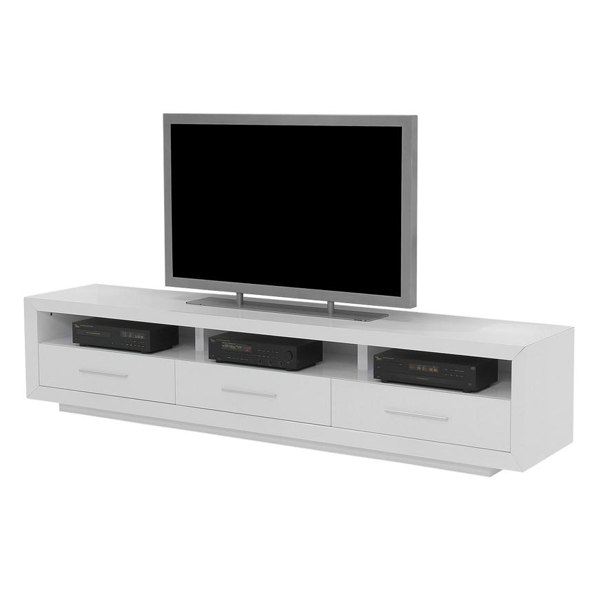 Remarkable Well Known White TV Stands Regarding Contour White Tv Stand El Dorado Furniture (View 12 of 50)