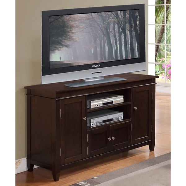 Remarkable Wellliked Brown TV Stands With Tv Stand Dark Brown Axiomatica (View 7 of 45)