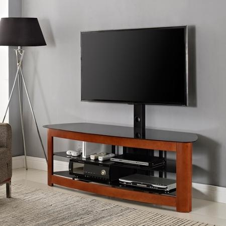 Remarkable Wellliked Cherry Wood TV Stands Inside Buy Basma Cherry Finish Wood Tv Stand Entertainment Center With  (Image 43 of 50)