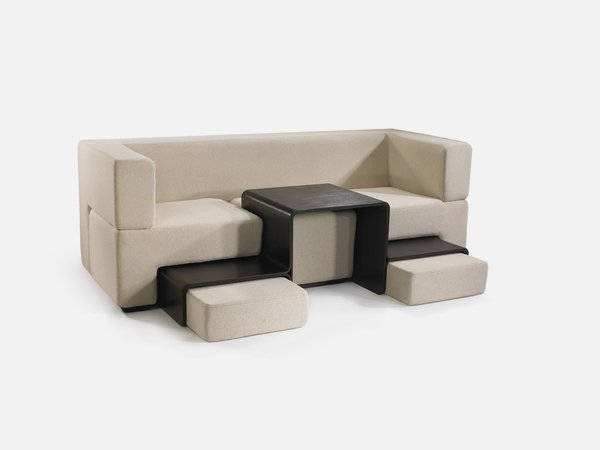 Remarkable Wellliked Coffee Table Footrests Pertaining To Modular Sofa Coffee Table And Footrest In One Furniture Slot (Image 35 of 40)