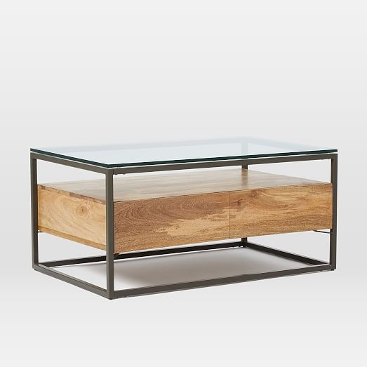 Remarkable Wellliked Coffee Tables With Box Storage Within Box Frame Storage Coffee Table West Elm (Image 47 of 50)