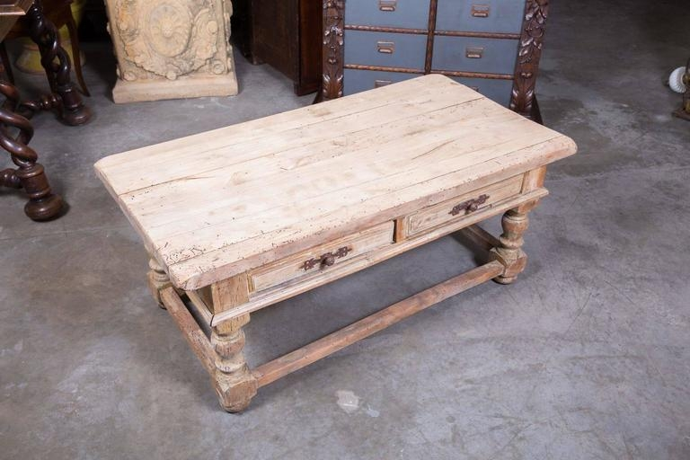 Remarkable Wellliked Country French Coffee Tables For Country French Bleached Wood Coffee Table At 1stdibs (Image 42 of 50)