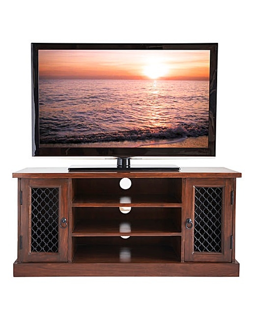 Remarkable Wellliked Jali TV Cabinets Throughout Sheesham Jali Wide Tv Cabinet Home Beauty Gift Shop (Image 43 of 50)