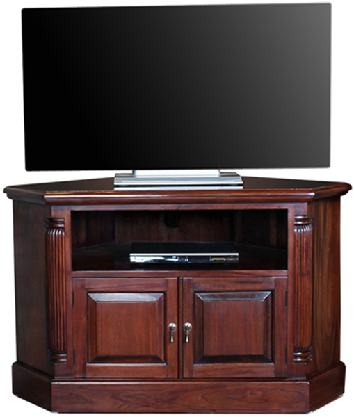 Remarkable Wellliked Mahogany Corner TV Cabinets Regarding Baumhaus Imr09b La Roque Solid Mahogany Corner Tv Cabinet Imr09b (View 19 of 50)