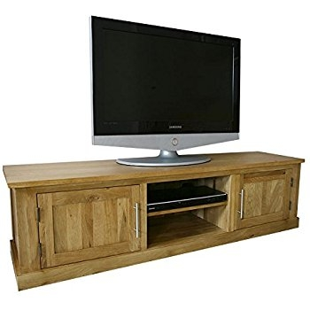 Remarkable Wellliked Oak TV Cabinets With Doors Within Wide Solid Oak Tv Cabinet Stand Unit With Doors Delamere Hflco (Image 41 of 50)