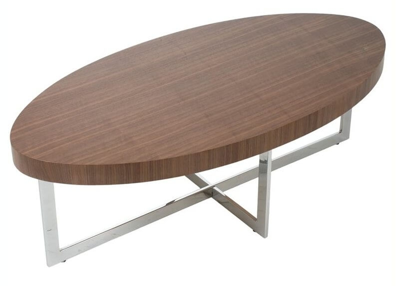 Remarkable Wellliked Oval Walnut Coffee Tables With Regard To Modern Oval Coffee Table (Image 43 of 50)