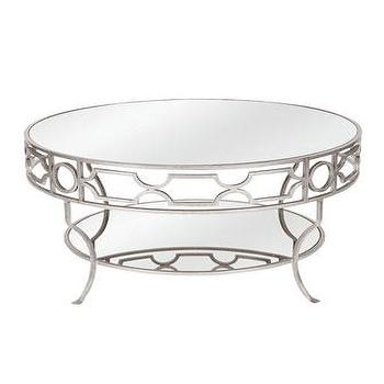 Remarkable Wellliked Round Mirrored Coffee Tables Within Two Tiered Brass Framed Glass Round Coffee Table (Image 37 of 40)