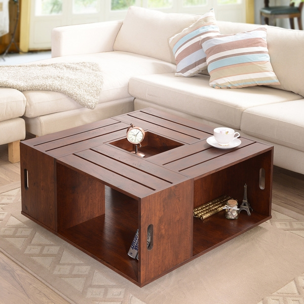 Remarkable Wellliked Square Coffee Tables With Storage Cubes With Regard To Square Cocktail Tables Exclusively Designed Cocktail Table (Image 31 of 40)