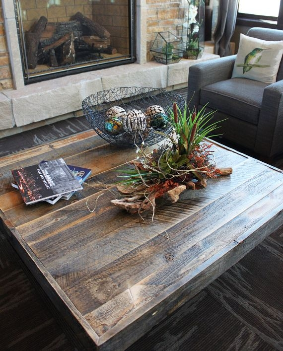 Remarkable Wellliked Square Large Coffee Tables Pertaining To Catchy Wood Square Coffee Table Amish Solid Wood Square Coffee (Image 38 of 50)