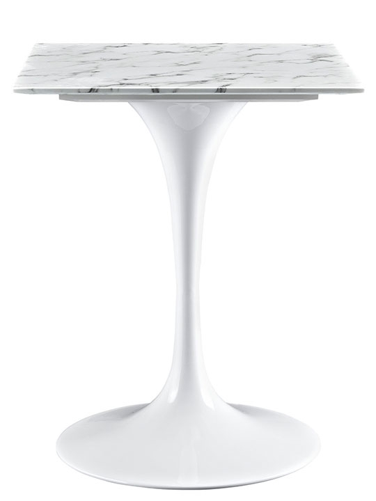 Remarkable Wellliked Square White Coffee Tables With Regard To Brilliant Square White Marble Side Table Modern Furniture (View 18 of 50)