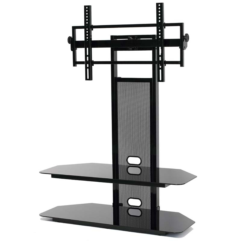Remarkable Wellliked Stands Alone TV Stands Pertaining To Currently Editing Transdeco Black Glass Tv Stand With Integrated (Image 40 of 50)