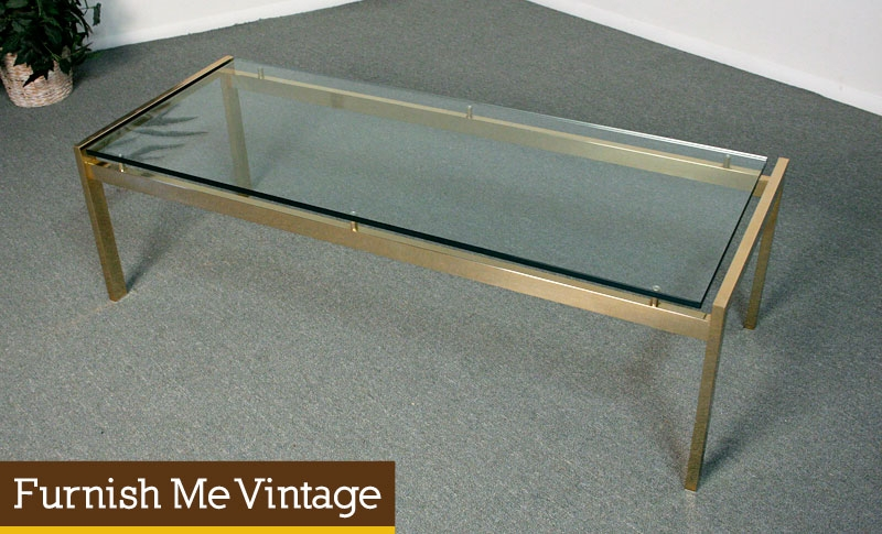 Remarkable Wellliked Vintage Glass Coffee Tables Intended For Antique Glass Coffee Tables Coffee Table With Glass Top Furnish (View 28 of 50)