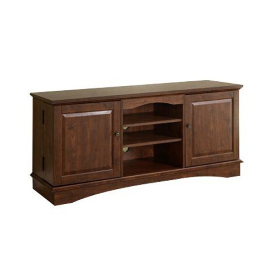 Remarkable Wellliked Wooden TV Stands With Doors Pertaining To Wood Tv Stand With Closed Media Storage Tv Stands Walmart Contemporary (Image 42 of 50)