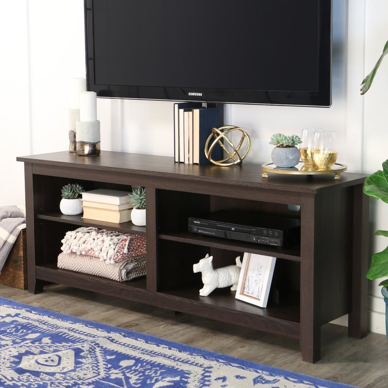 Remarkable Widely Used Beam Thru TV Stands Throughout Flat Panel Mount Tv Stands Youll Love Wayfair (Image 43 of 50)