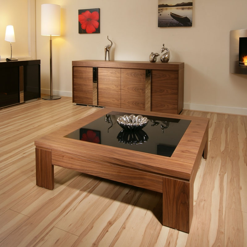 Remarkable Widely Used Black Wood And Glass Coffee Tables Throughout Modern Black Glass Coffee Table Coffee Tables Guide Modern Black (Image 38 of 49)
