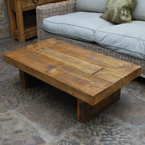 Remarkable Widely Used Chunky Wood Coffee Tables In Chunky Wood Tv Table Coffee Occasional Tables Rugged T (Image 40 of 50)