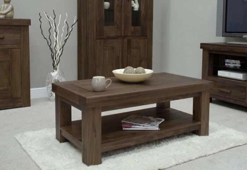 Remarkable Widely Used Chunky Wood Coffee Tables Pertaining To Coffee Table Dark Wood Gallery Image Fppudocs (Image 41 of 50)