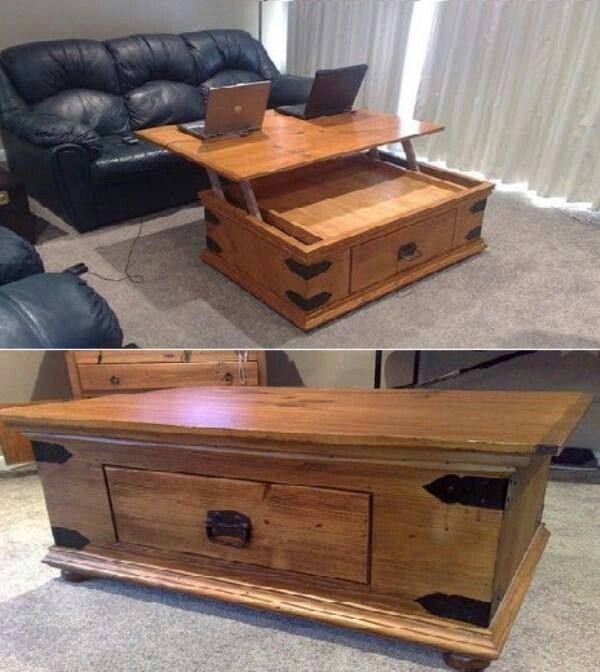 Remarkable Widely Used Coffee Tables With Raisable Top Within Best 10 Adjustable Coffee Table Ideas On Pinterest Woodworking (View 39 of 50)