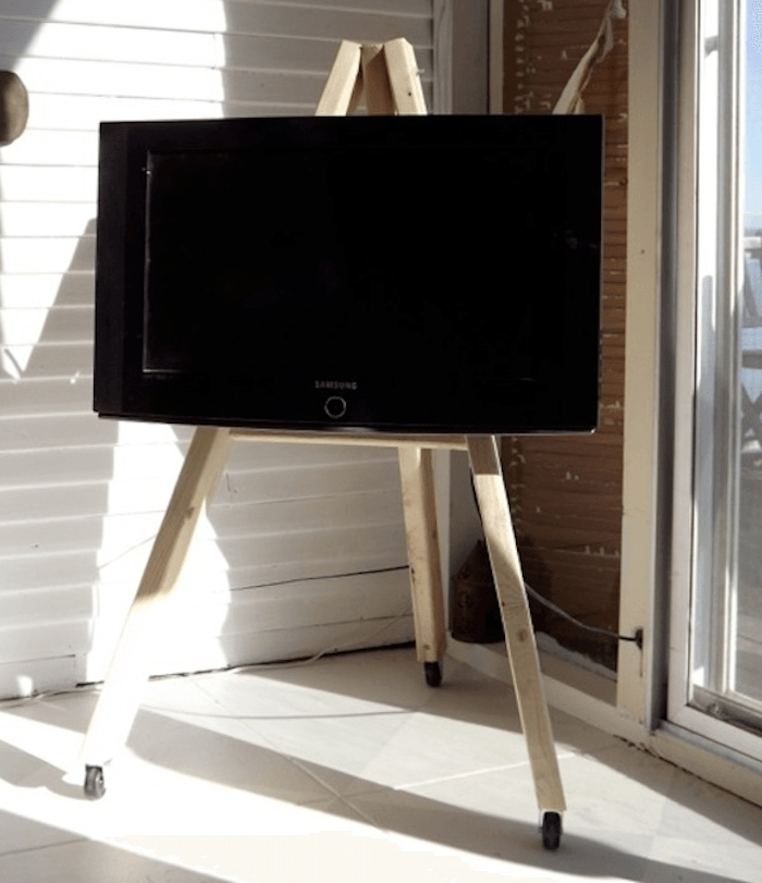 Remarkable Widely Used Easel TV Stands For Flat Screens Intended For Flat Screen Tv Easel Stand Home Design Ideas (View 9 of 50)
