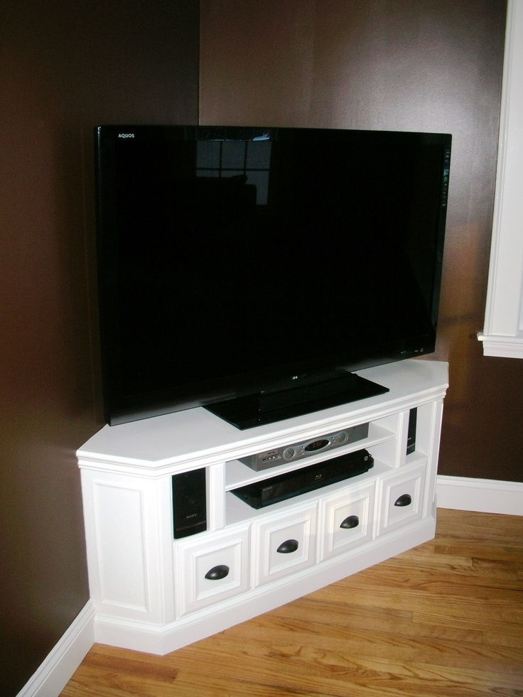Remarkable Widely Used Flat Screen TV Stands Corner Units Pertaining To Best 25 Corner Tv Cabinets Ideas Only On Pinterest Corner Tv (Image 41 of 50)