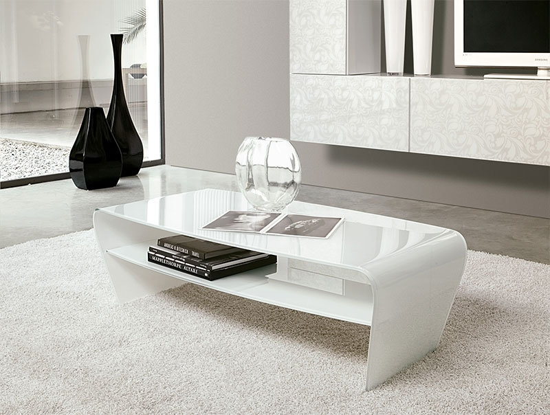 Remarkable Widely Used Gloss Coffee Tables Throughout Design Modern High Gloss White Coffee Table With Black Glass Top (Image 45 of 50)
