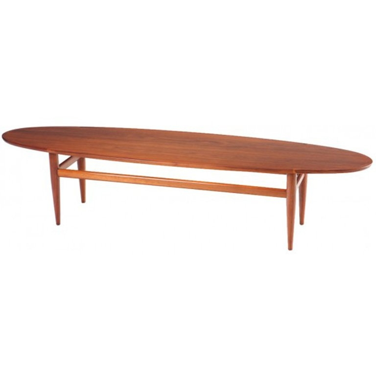 Remarkable Widely Used Heritage Coffee Tables With Mid Century Drexel Heritage Walnut Surfboard Coffee Table At 1stdibs (Image 44 of 50)