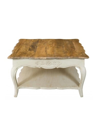 Remarkable Widely Used Mango Wood Coffee Tables Pertaining To Shab Chic Painted Mango Wood Coffee Table Bournemouthpoole (Image 42 of 50)