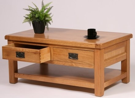 Remarkable Widely Used Oak Coffee Tables With Shelf Intended For Coffee Table With Jerichomafjarproject (Image 34 of 40)