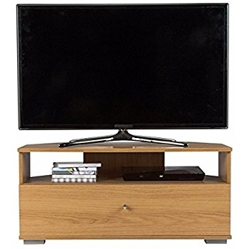 Remarkable Widely Used Oak Effect Corner TV Stands With Corner Tv Stand Oak Effect 1 Drawer Entertainment Television (Image 43 of 50)