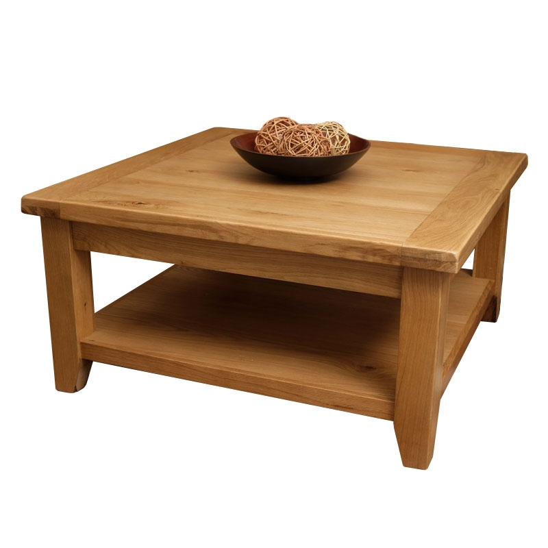 Remarkable Widely Used Oak Square Coffee Tables For 50 Off Solid Oak Coffee Tables Home Furniture Land Uk (View 3 of 50)