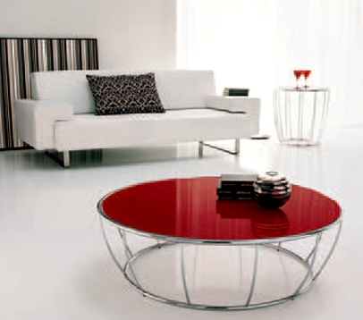 Remarkable Widely Used Red Round Coffee Tables Pertaining To Hogo Round Coffee Table Betterimprovement (View 3 of 50)