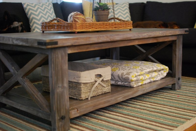 Remarkable Widely Used Rustic Storage DIY Coffee Tables Inside Living Room Great Coffee Table Rustic Tables Reclaimed Wood About (Image 42 of 50)