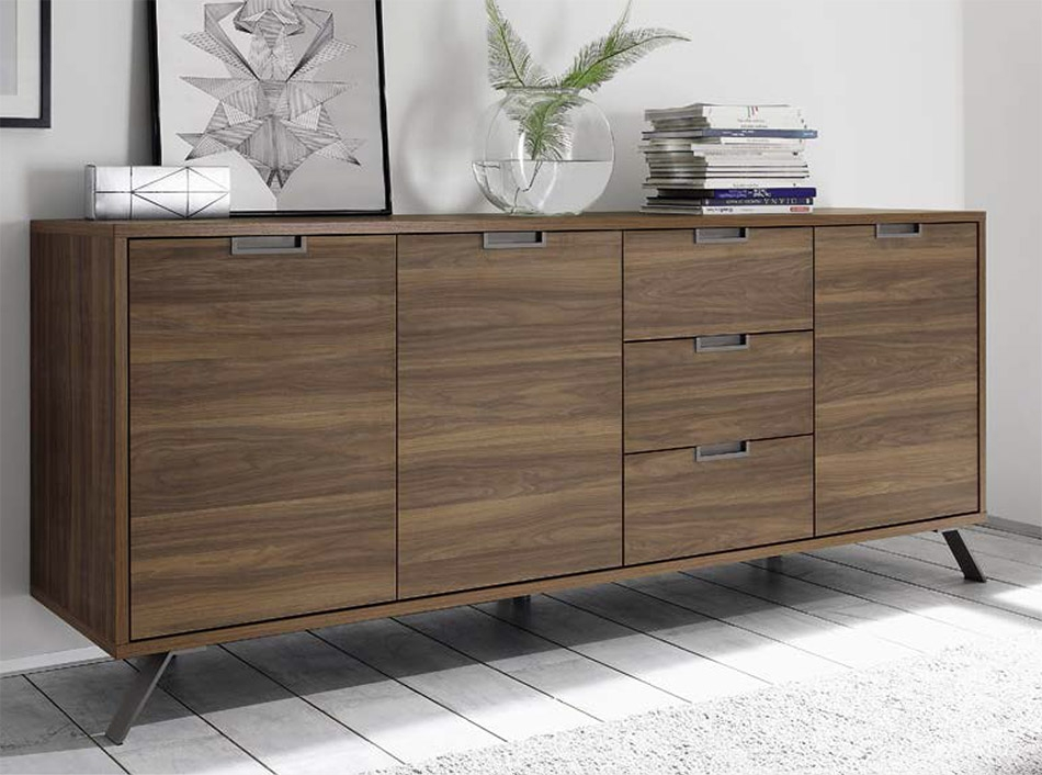 Remarkable Widely Used Sideboard TV Stands Pertaining To Palma Tv Stand Lc Mobili Walnut (Image 43 of 50)