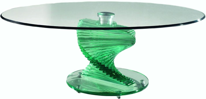Remarkable Widely Used Spiral Glass Coffee Table Intended For Coffee Table Spiral Glass Coffee Table A Glass Table Is (Image 47 of 50)