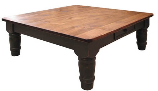 Remarkable Widely Used Square Large Coffee Tables Intended For Wood Square Coffee Table Country Roads Reclaimed Wood Square (Image 39 of 50)