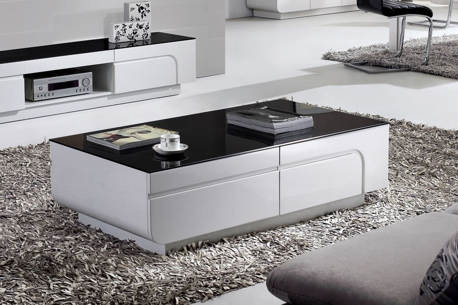 Remarkable Widely Used White Gloss Coffee Tables With Regard To White Gloss Coffee Table (Image 42 of 50)