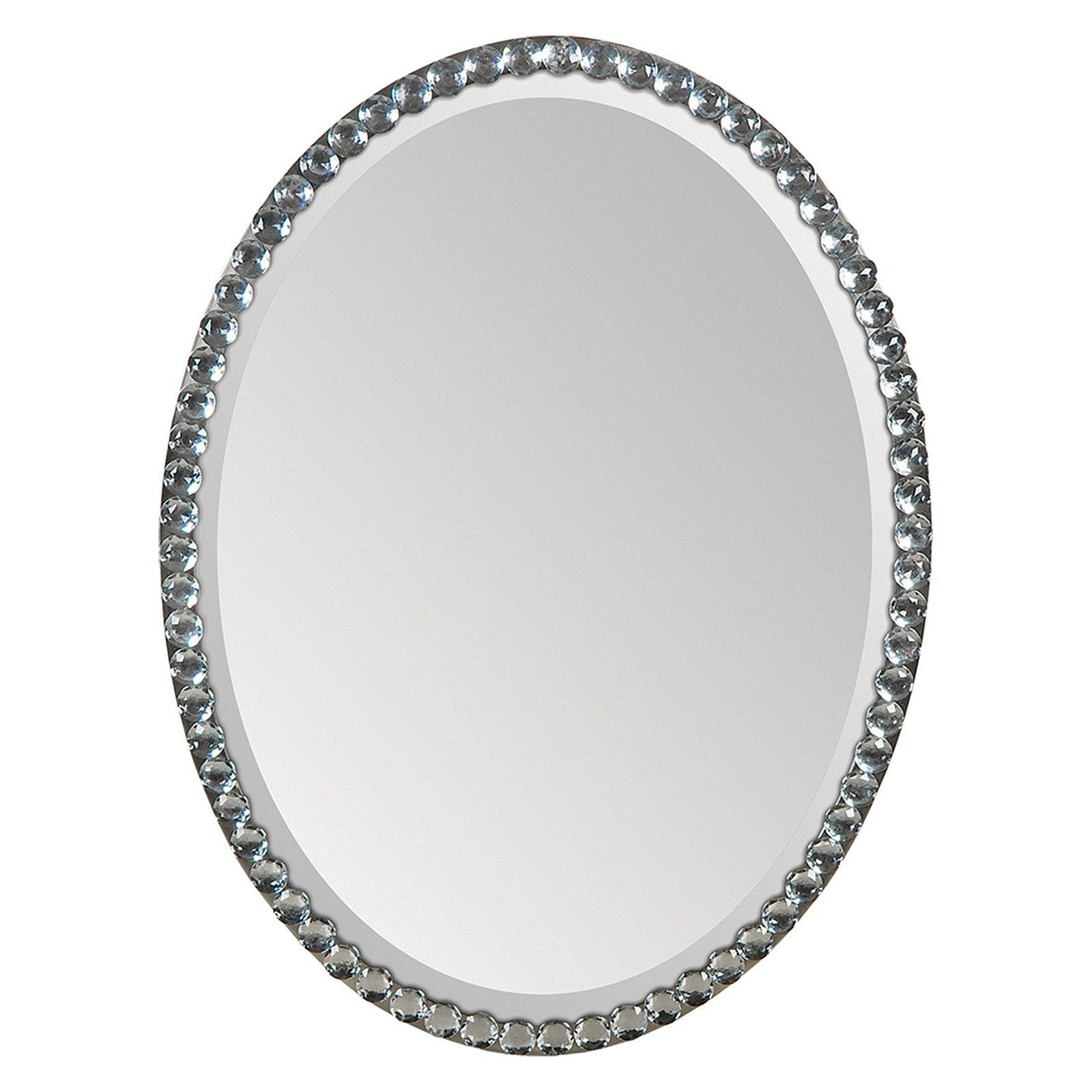 Ren Wil Oval Crystal Framed Wall Mirror – 24W X 32H In (Image 10 of 20)