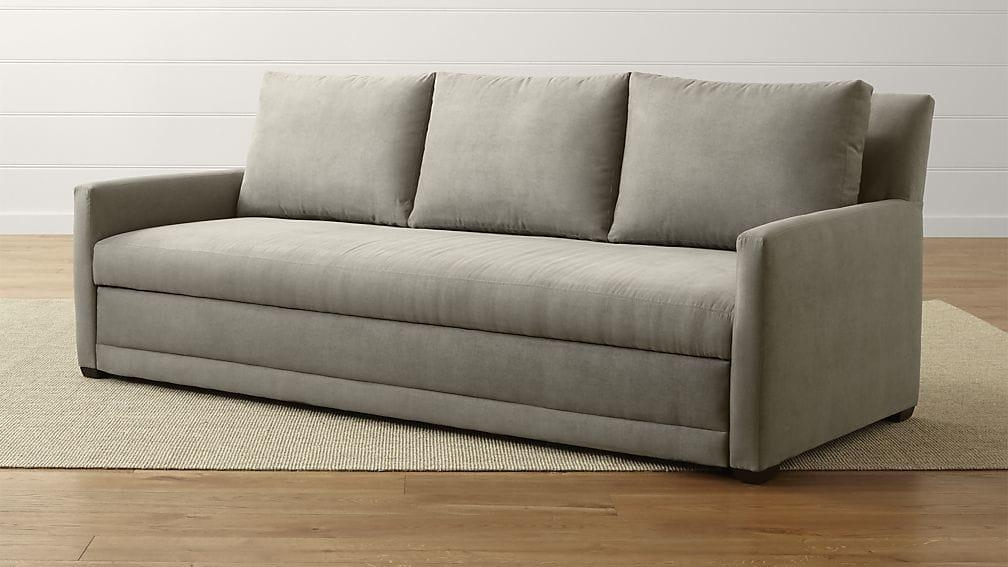 Reston Queen Sleeper Sofa | Crate And Barrel With Regard To Queen Sofa Beds (Image 18 of 20)