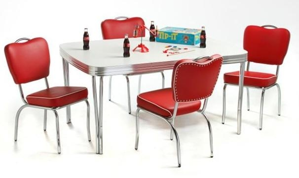 Retro Diner Table And Chair Sets Inside Retro Dining Tables (Image 15 of 20)
