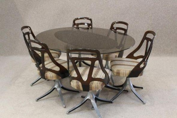 Retro Dining Table Set | Dining Tables Regarding Retro Glass Dining Tables And Chairs (Image 9 of 20)