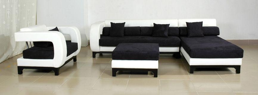 Retro Leather 3 2 Sofa Black Or Red Colour 2 – S3Net – Sectional Pertaining To Black Modern Couches (Image 19 of 20)