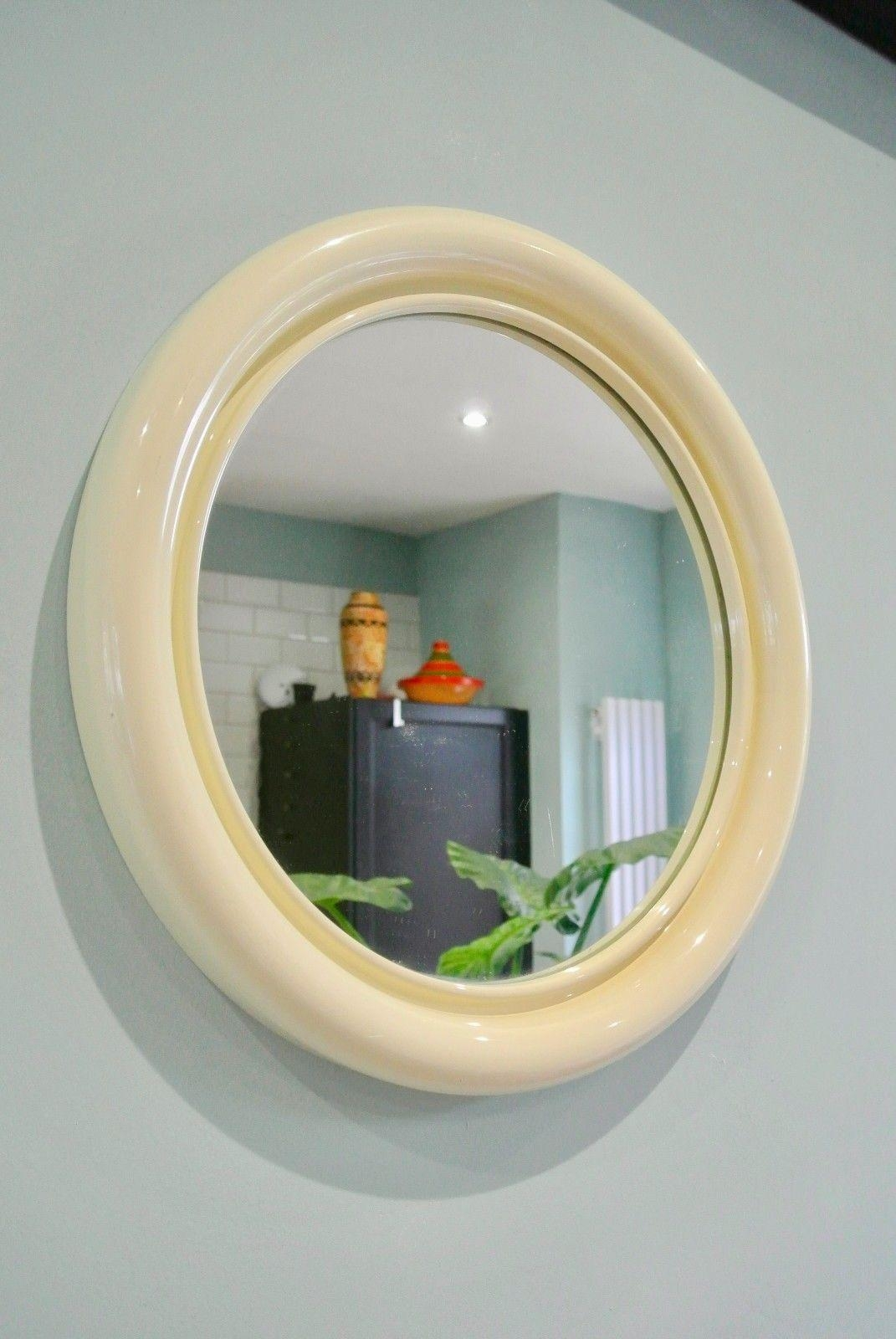Retro Vintage Cream Habitat Conran Crayonne Mirror | Vinterior Pertaining To Cream Vintage Mirror (Image 12 of 20)