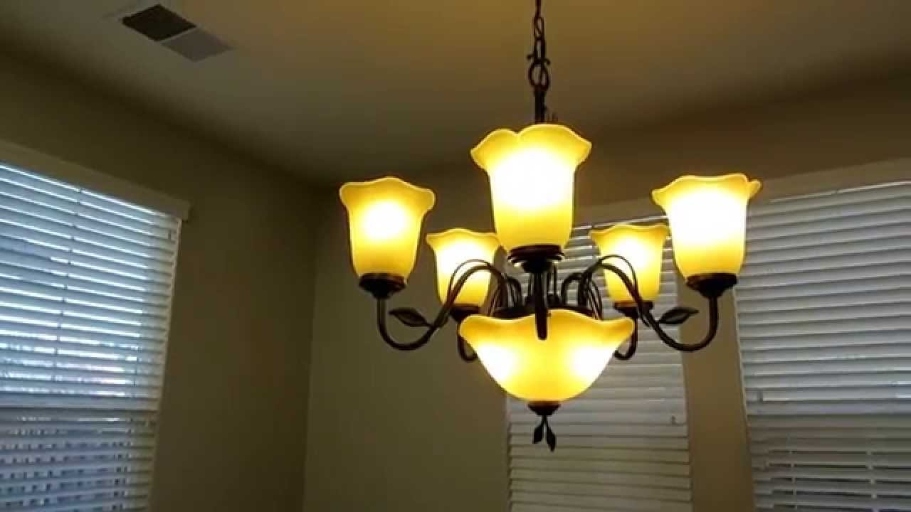 Review Of The Allen Roth 5 Light Chandelier With Uplight Light Throughout 7 Light Chandeliers (Image 16 of 25)