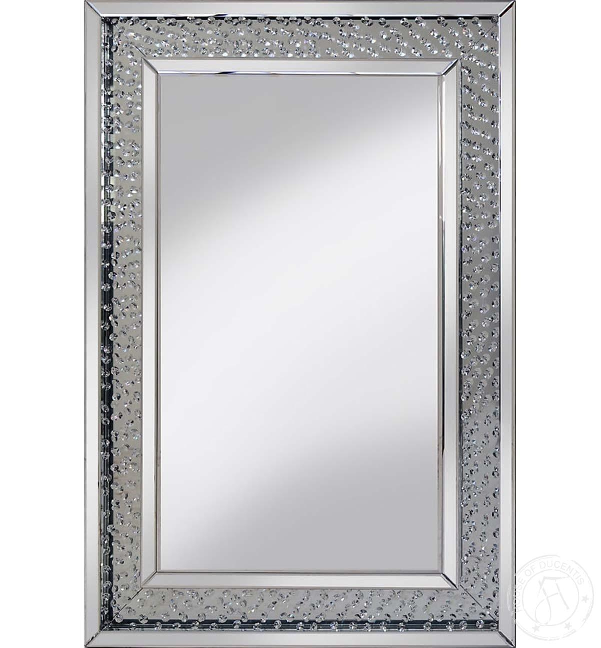 Rhombus Compact Mirror Throughout Mirror With Crystals (Image 15 of 20)