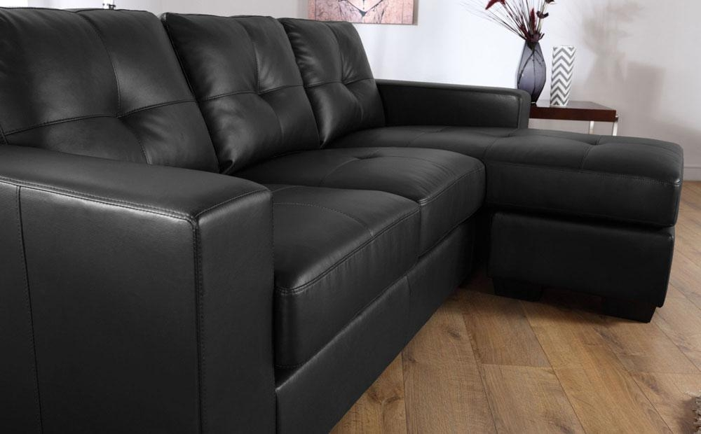 Rio Black Leather Corner Sofas Group Settee Unit | Ebay Pertaining To Black Leather Corner Sofas (Image 20 of 20)