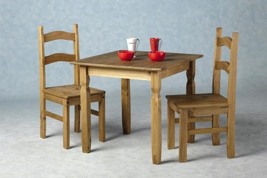 Rio Wooden Dining Table With 2 Chairs 8711 Furniture In Regarding Rio Dining Tables (Image 16 of 20)