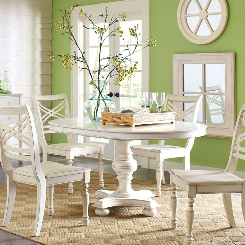 Riverside Placid Cove Round Dining Table | Hayneedle With Round White Dining Tables (View 12 of 20)